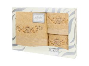 Махровые банные полотенца с вышивкой Valentini арт.10031 1113 (Португалия)