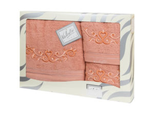 Махровые банные полотенца с вышивкой Valentini арт.10031 112 (Португалия)