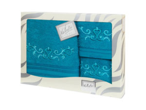 Махровые банные полотенца с вышивкой Valentini арт.10031 1185 (Португалия)