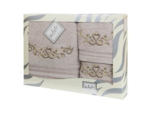Махровые банные полотенца с вышивкой Valentini арт.10031 2143 (Португалия) )