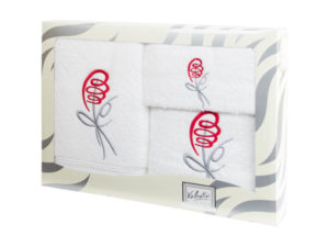Махровые банные полотенца с вышивкой Valentini арт.80053 101 (Португалия)