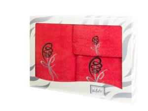 Махровые банные полотенца с вышивкой Valentini арт.80053 1088 (Португалия)