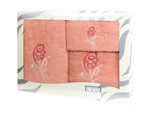 Махровые банные полотенца с вышивкой Valentini арт.80053 112 (Португалия)