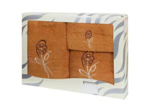 Махровые банные полотенца с вышивкой Valentini арт.80053 1133 (Португалия)