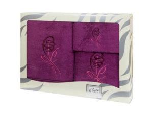Махровые банные полотенца с вышивкой Valentini арт.80053 1158 (Португалия)