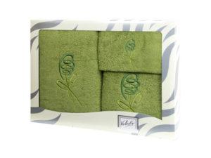 Махровые банные полотенца с вышивкой Valentini арт.80053 1195 (Португалия)