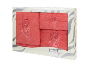 Махровые банные полотенца с вышивкой Valentini арт.80053 1238 (Португалия)
