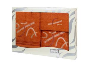 Махровые банные полотенца с вышивкой Valentini арт.80701 1128 (Португалия)