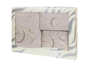 Махровые банные полотенца с вышивкой Valentini арт.80701 2143 (Португалия)