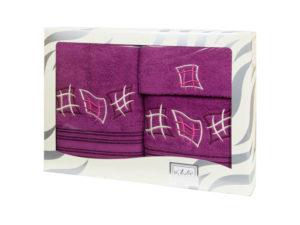 Махровые банные полотенца с вышивкой Valentini арт.80815 1158 (Португалия)