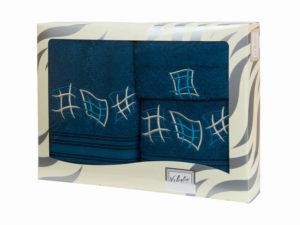 Махровые банные полотенца с вышивкой Valentini арт.80815 1179 (Португалия)