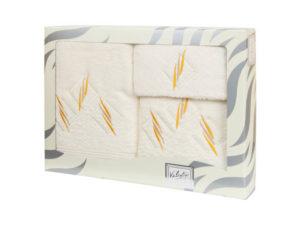Махровые банные полотенца с вышивкой Valentini арт.80819 103 (Португалия)