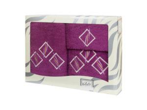 Махровые банные полотенца с вышивкой Valentini арт.80819 1158 (Португалия)