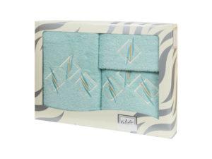 Махровые банные полотенца с вышивкой Valentini арт.80819 2135 (Португалия)