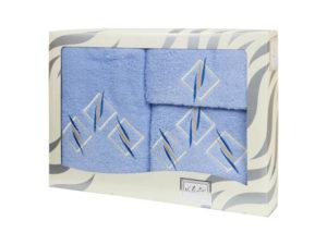 Махровые банные полотенца с вышивкой Valentini арт.80819 2139 (Португалия)