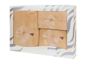Махровые банные полотенца с вышивкой Valentini арт.81003 1113 (Португалия)