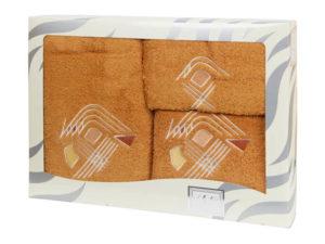 Махровые банные полотенца с вышивкой Valentini арт.81003 1133 (Португалия)