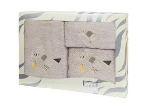 Махровые банные полотенца с вышивкой Valentini арт.81003 2143 (Португалия)