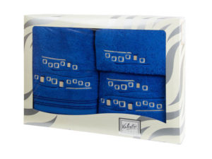 Махровые банные полотенца с вышивкой Valentini арт.81005 1119 (Португалия)