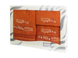 Махровые банные полотенца с вышивкой Valentini арт.81005 1128 (Португалия)
