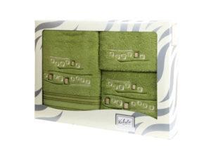 Махровые банные полотенца с вышивкой Valentini арт.81005 1135 (Португалия)