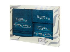 Махровые банные полотенца с вышивкой Valentini арт.81005 1179 (Португалия)