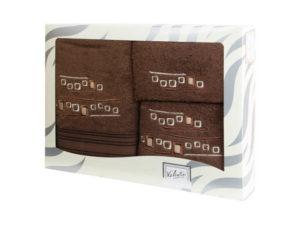 Махровые банные полотенца с вышивкой Valentini арт.81005 1183 (Португалия)