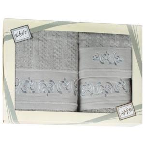 Махровые банные полотенца с вышивкой Valentini арт.10005 1117 (Португалия)