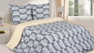 Комплект постельного белья поплин Джайв евро на резинке