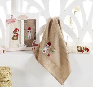 Салфетки вафельные с вышивкой Ruby V1 40*60 см