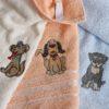 Салфетки махровые с вышивкой Moly V1 30*50 см