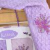 Салфетки махровые с вышивкой Лаванда 45*65 см 3 шт