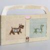 Салфетки бамбуковые с вышивкой Toby V2 30*50 см