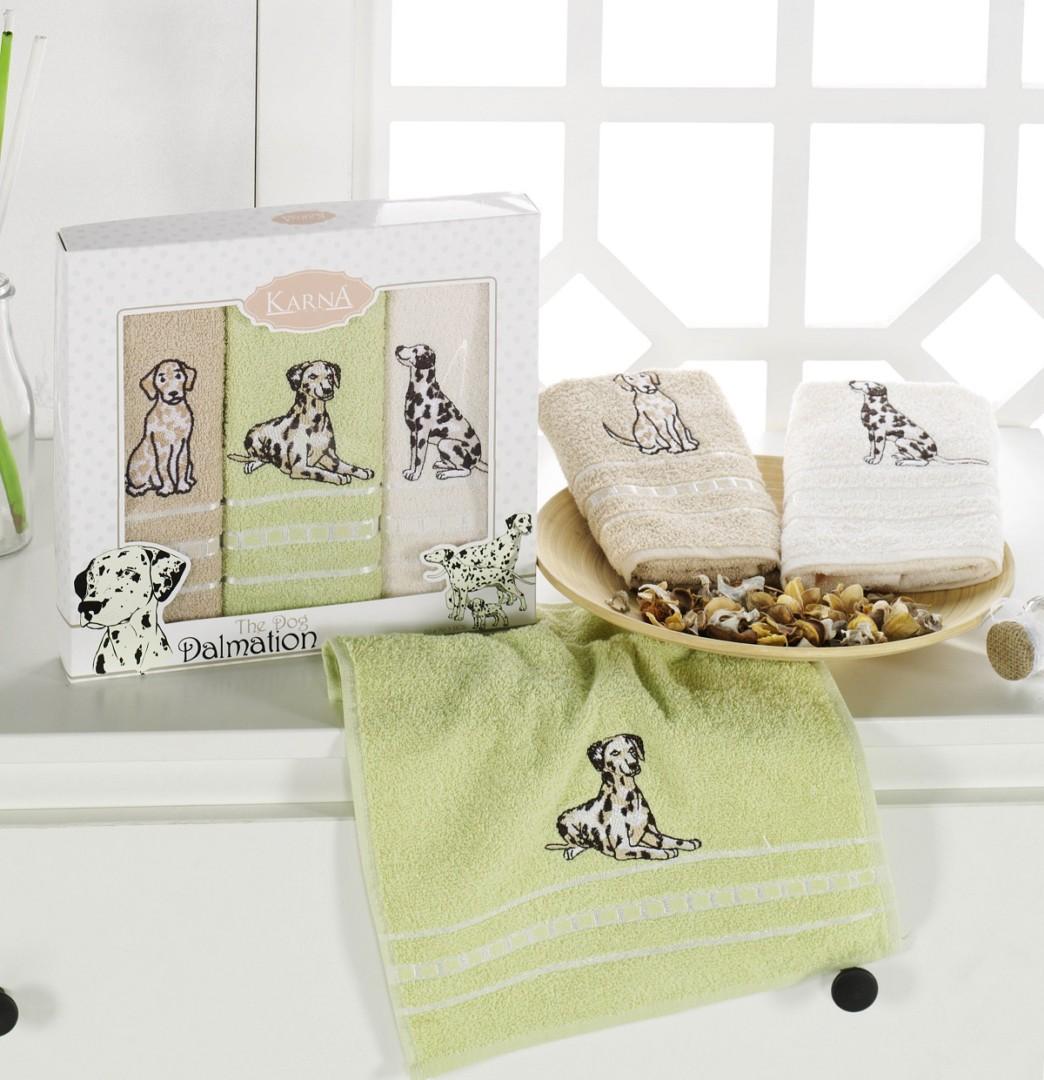 Салфетки махровые с вышивкой Moly V3 30*50 см