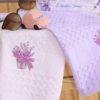 Салфетки махровые с вышивкой Лаванда  V1 45*65 см 2 шт