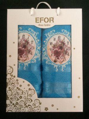 Набор махровых полотенец Efor голубой