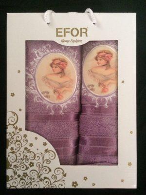 Набор махровых полотенец Efor лиловый