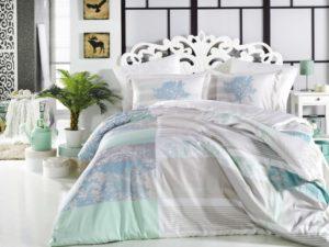Комплект постельного белья Elsa  аква евро