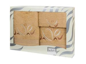 Махровые банные полотенца с вышивкой Valentini арт.81021 1113 (Португалия)