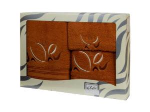 Махровые банные полотенца с вышивкой Valentini арт.81021 1133 (Португалия)