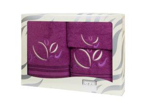 Махровые банные полотенца с вышивкой Valentini арт.81021 1158 (Португалия)