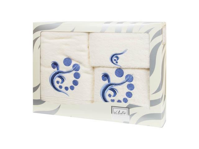 Махровые банные полотенца с вышивкой Valentini арт.81030 103 (Португалия)