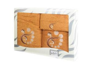 Махровые банные полотенца с вышивкой Valentini арт.81030 1133 (Португалия)