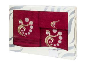 Махровые банные полотенца с вышивкой Valentini арт.81030 1148 (Португалия)