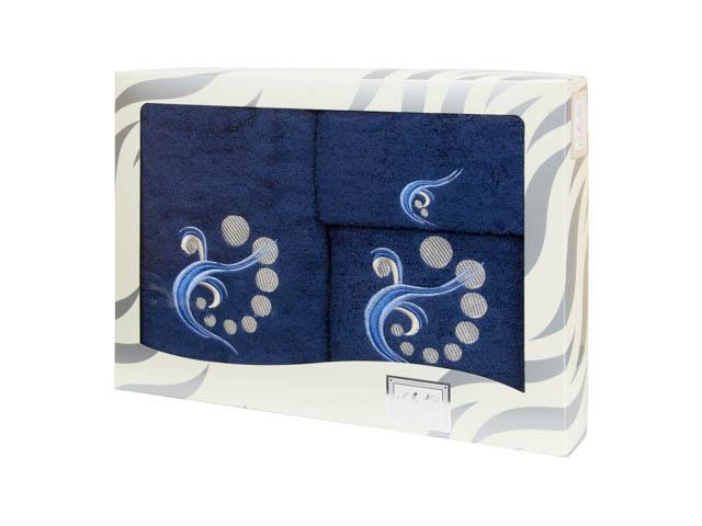 Махровые банные полотенца с вышивкой Valentini арт.81030 1189 (Португалия)