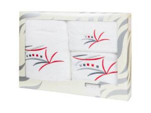 Махровые банные полотенца с вышивкой Valentini арт.81043 101 (Португалия)