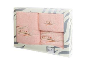 Махровые банные полотенца с вышивкой Valentini арт.81043 2105 (Португалия)