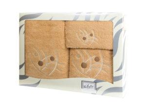 Махровые банные полотенца с вышивкой Valentini арт.81048 1113 (Португалия)