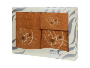 Махровые банные полотенца с вышивкой Valentini арт.81048 1133 (Португалия)