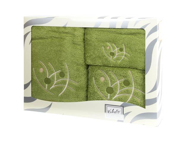 Махровые банные полотенца с вышивкой Valentini арт.81048 1195 (Португалия)